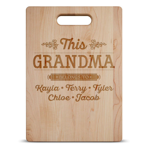 This (Custom Name) Belongs To - Personalized Cutting Board