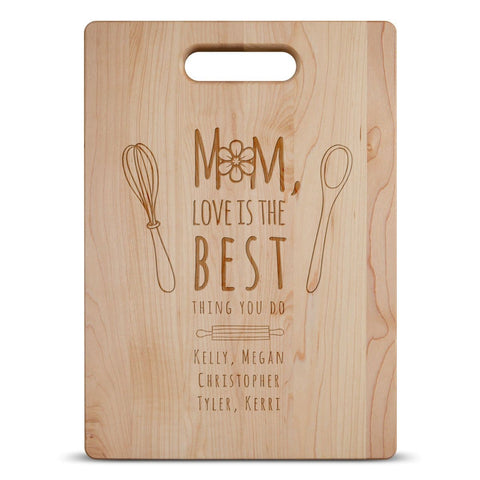 Mom Love Is The Best - Personalized Cutting Board