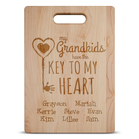 Key To Grandma's Heart - Personalized Cutting Board