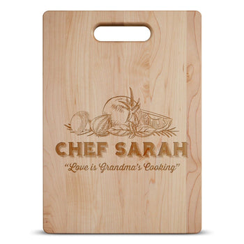 Love is Grandma's Kitchen - Personalized Cutting Board