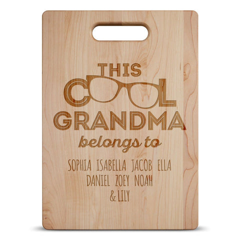 This Cool (Custom Name) Belongs To - Personalized Cutting Board