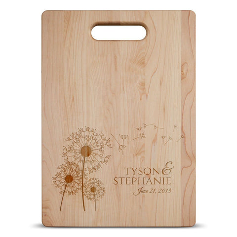 Dandelion Couple Anniversary - Personalized Cutting Board - Cutting Boards