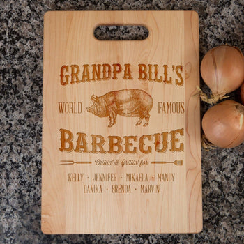 (Custom Name)'s Barbecue - Personalized Cutting Board - Cutting Boards