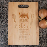 Mom Love Is The Best - Personalized Cutting Board - [variant_title]