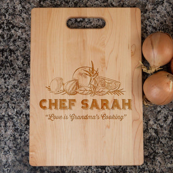 Love is Grandma's Kitchen - Personalized Cutting Board - [variant_title]