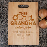 This Cool (Custom Name) Belongs To - Personalized Cutting Board - [variant_title]