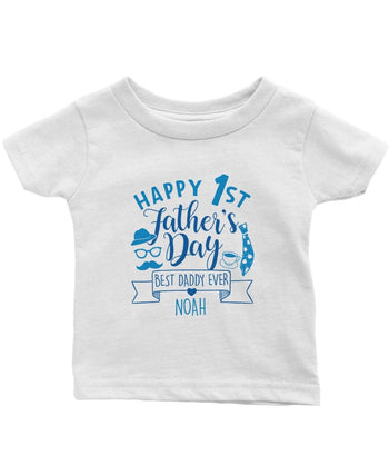 Happy 1st Fathers Day - Personalized Children's T-Shirt - Children's T-Shirts