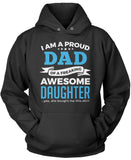 Proud Dad of An Awesome Daughter Pullover Hoodie Sweatshirt