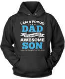 Proud Dad of An Awesome Son Pullover Hoodie Sweatshirt