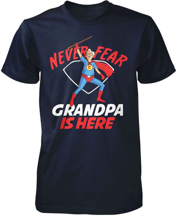 Never Fear (Nickname) Is Here - T-Shirt - Premium T-Shirt / Navy / S