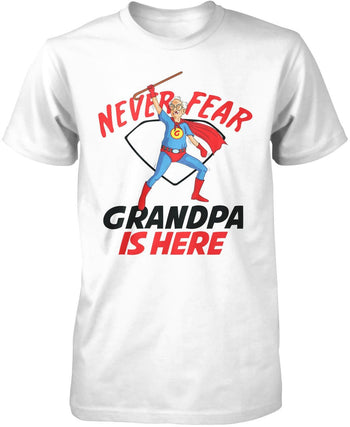 Never Fear (Nickname) Is Here - T-Shirt - Premium T-Shirt / White / S