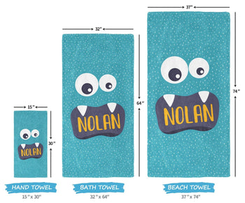 Little Monster - Personalized Towel - [variant_title]