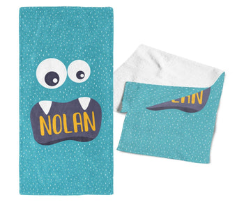 Little Monster- Personalized Kids Name Towel