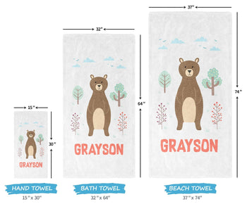 Woodland Bear - Personalized Towel - [variant_title]