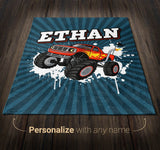 Monster Truck - Personalized Blanket - [variant_title]