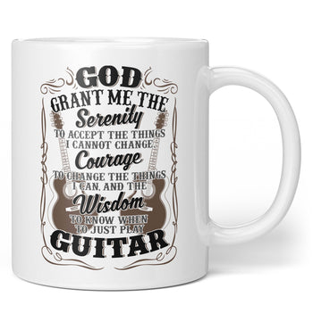 Acoustic Guitar Serenity - Mug - Coffee Mugs