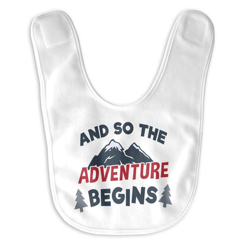 And So the Adventure Begins - Baby Bib - Baby Apparel
