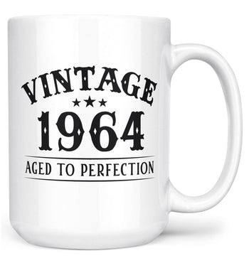 Vintage (Your Birth Year) - Custom Mug - White / Large - 15oz
