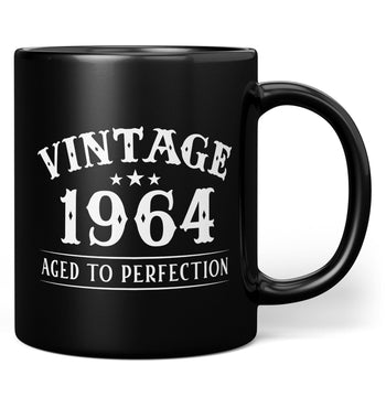 Vintage (Your Birth Year) - Custom Mug - Black / Regular - 11oz