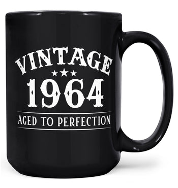 Vintage (Your Birth Year) - Custom Mug - Black / Large - 15oz