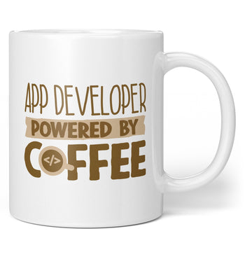 App Developer Powered By Coffee - Mug - Coffee Mugs