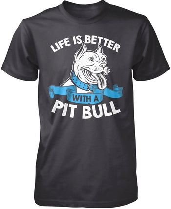 Life Is Better with a Pit Bull - Premium T-Shirt / Dark Heather / S