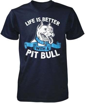 Life Is Better with a Pit Bull - Premium T-Shirt / Navy / S