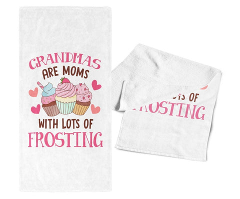 (Nickname) Are Moms with Lots of Frosting - Kitchen Towel - Towels