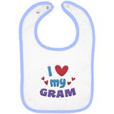 I Love My Gram - Embroidered Infant Bib
