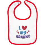 I Love My Granny - Embroidered Infant Bib