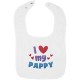 I Love My Pappy - Embroidered Infant Bib
