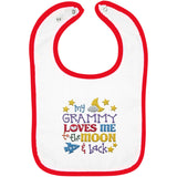 Grammy Loves Me to the Moon and Back - Embroidered Infant Bib
