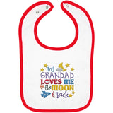 Grandad Loves Me to the Moon and Back - Embroidered Infant Bib