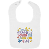 Granny Loves Me to the Moon and Back - Embroidered Infant Bib