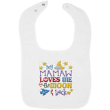 Mamaw Loves Me to the Moon and Back - Embroidered Infant Bib