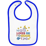 Oma Loves Me to the Moon and Back - Embroidered Infant Bib