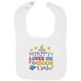 Pappy Loves Me to the Moon and Back - Embroidered Infant Bib