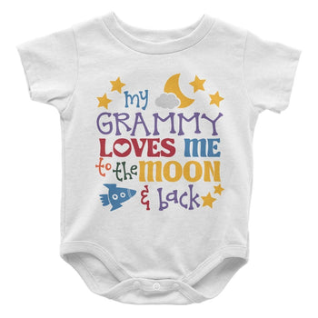 (Nickname) Loves Me to the Moon and Back - Baby Bodysuit - Baby Apparel