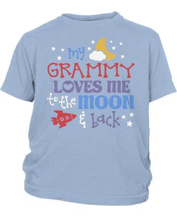 (Nickname) Loves Me to the Moon and Back - Children's T-Shirt - Children's T-Shirts