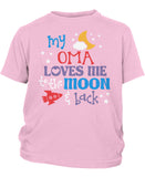 Oma Loves Me to the Moon and Back - Children's T-Shirt