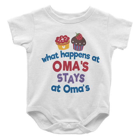 What Happens At Omas - Baby Onesie
