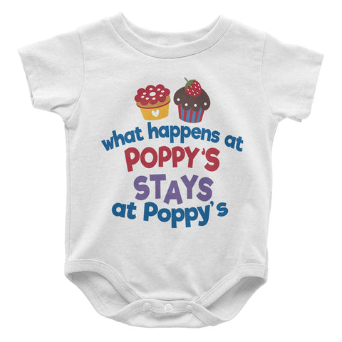 What Happens At Poppys - Baby Onesie