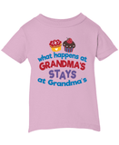 What Happens at (Nickname)'s - Children's T-Shirt - Infant T-Shirt / Pink / 6M