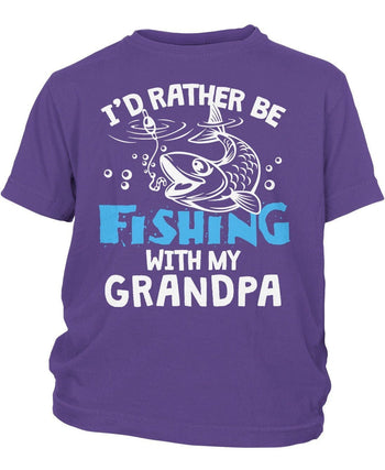 I'd Rather Be Fishing with (Nickname) - Children's T-Shirt - Children's T-Shirts