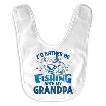 I'd Rather be Fishing with (Nickname) - Personalized Baby Bib