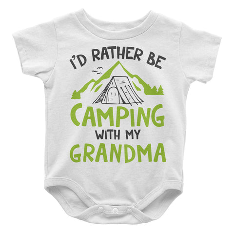 Rather Be Camping with My Grandma - Baby Onesie
