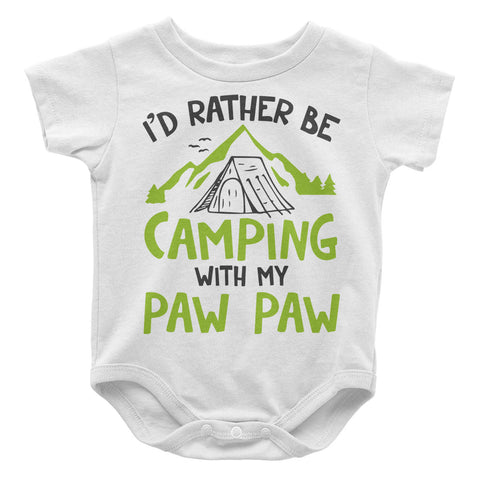 Rather Be Camping with My Paw Paw - Baby Onesie