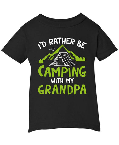Rather Be Camping with My (Nickname) - Personalized Infant T-Shirt