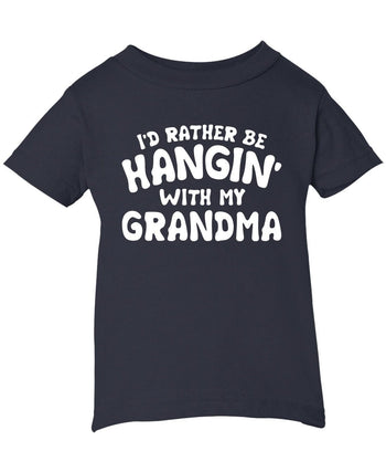 I'd Rather Be Hangin' with My (Nickname) - Children's T-Shirt - Infant T-Shirt / Navy / 6M