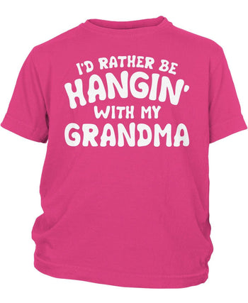 I'd Rather Be Hangin' with My (Nickname) - Children's T-Shirt - Toddler T-Shirt / Hot Pink / 2T